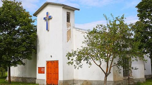 Маленькая церковь, принадлежавшая Нарвскому лютеранскому приходу.  Архивное фото, автор - Илья Смирнов