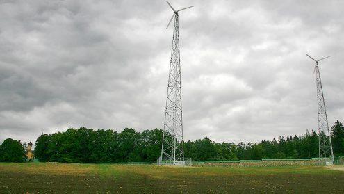 Ветрогенераторы - еще одна особенность Святой горы.