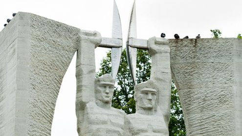 Кохтла-Ярве - город шахтеров.  Архивное фото, автор - Матти Кямяря