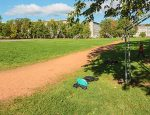 Ученики и учителя Нарвской школы №6 используют для уличных занятий физкультурой вот такое поле. В текущем выборном году это не успели, но в 2018-м власти Нарвы обещают все же построить здесь стадион с футбольным полем, игровой площадкой и беговой стометровкой.