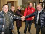 Переговоры руководителей трех волостей завершились единогласным решением утвердить договор об объединении.