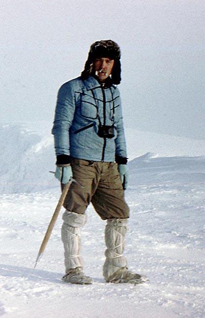 В середине 1980-х в роли руководителя группы на Кольском полуострове в Хибинах на вершине горы Ферсмана.