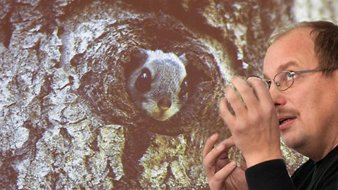 В Вирумаа Уудо Тимм оказывался перед камерой обычно в связи с белкой-летягой. В 2012 году в Йыхви - за ведением вечера природы...