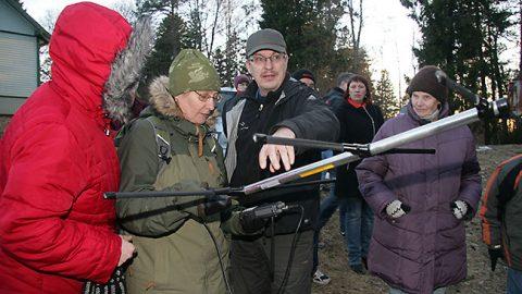 ...в 2014 году в Ийзаку на горе Тяривере в поисках белки-летяги с передатчиком...
