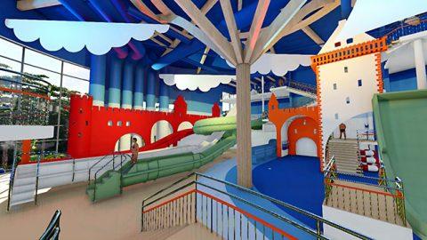 """В будущем аквапарке """"Нооруса"""" в курортном городе Нарва-Йыэсуу будет обыграна тематика пограничных крепостей на реке Нарва, отсюда и рабочее название - """"Две крепости""""."""