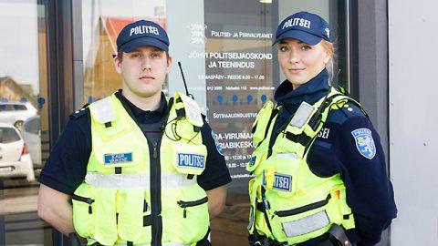 Патрульные полицейские Йыхвиского отделения полиции Каур Вяйкене и София Ислевская во время учебной практики в Ида-Вирумаа получили настолько хороший опыт, что решили начать свою карьеру именно здесь.
