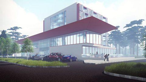 Представлены эскизы будущего комплекса гостиницы и спа на пересечении улиц Яана Поска и Айа - в самом центре Нарва-Йыэсуу.