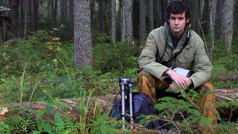 В лесу Ярвселья осенью 2008 года - конечно же, с камерой.