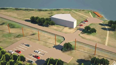 До строительства портового здания и причала дело дойдет в следующем году, нынче цель - построить слип и расширить возможности для парковки.