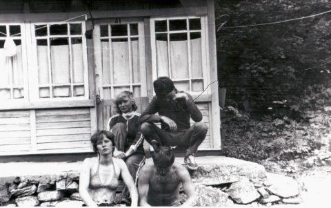 В 1986 году в альпинистском лагере, Ингрид - слева в заднем ряду.