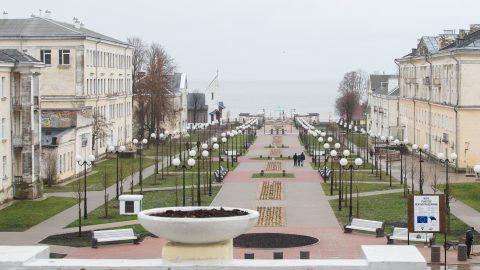 Обновленный бульвар Мере в Силламяэ откроют в декабре. (Mатти КЯМЯРЯ)