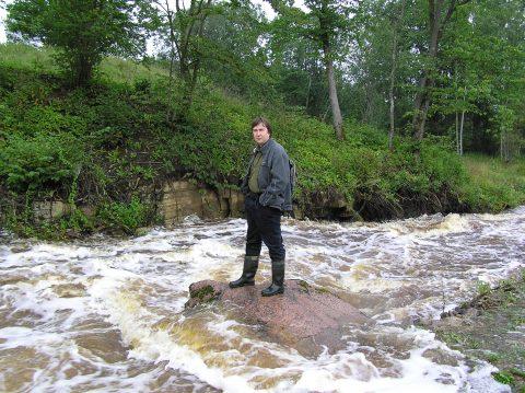 В августе 2008 года за осмотром затопления.