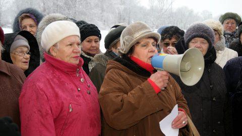 Митинг в Кохтла-Ярве в 2013 году. (Фото: Пеэтер ЛИЛЛЕВЯЛИ/АРХИВ)