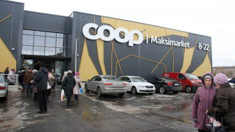 """Силламяэский """"Maksimarket"""" появился в центре города, рядом с бывшим торговым центром """"SK Market"""". (Фото: Пеэтер ЛИЛЛЕВЯЛИ)"""