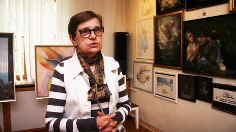Ретроспективная выставка живописи Аалы Гитт, посвященная жизненному юбилею художника, стала последней экспозицией перед закрытием зала на ремонт. (Фото: Пеэтер ЛИЛЛЕВЯЛИ)