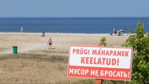 Среди окрестных жителей тойлаский пляж - крайне популярное место отдыха, но эти же самые отдыхающие, несмотря на наличие мусорных контейнеров, зачастую не утруждают себя элементарной уборкой мусора. (Фото: Матти КЯМЯРЯ)